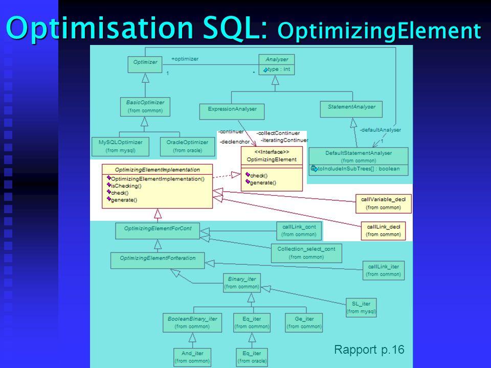 Optimisation SQL: OptimizingElement Rapport p.16