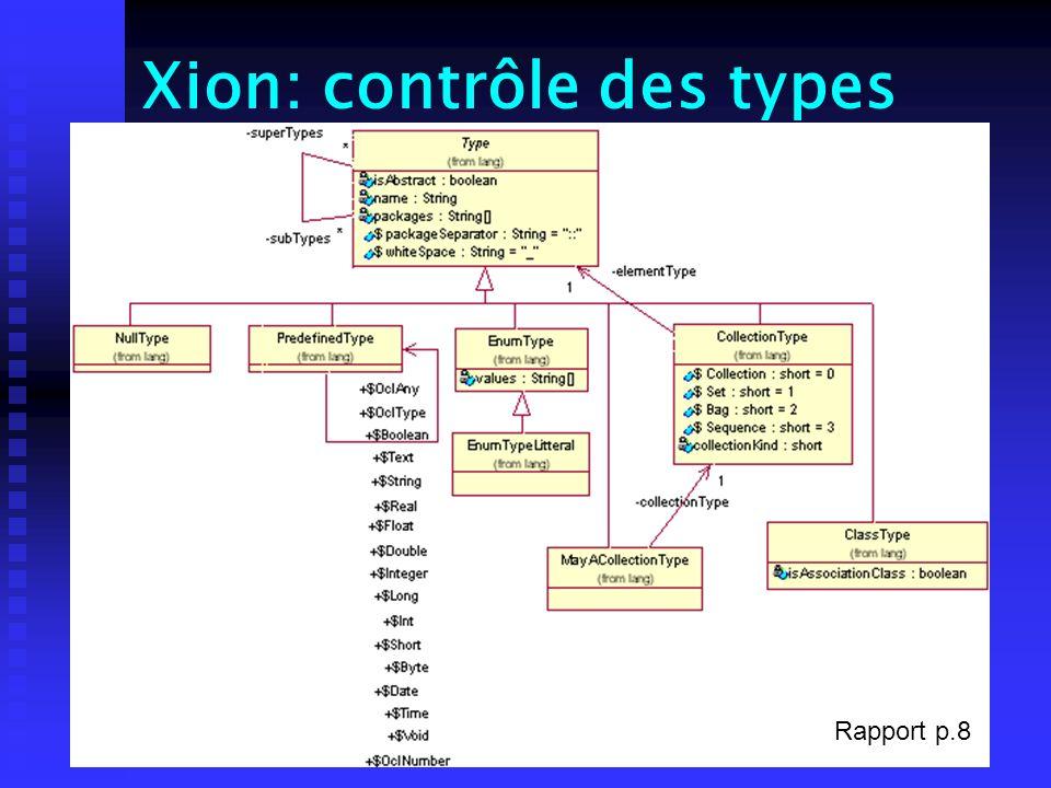 Xion: contrôle des types Rapport p.8