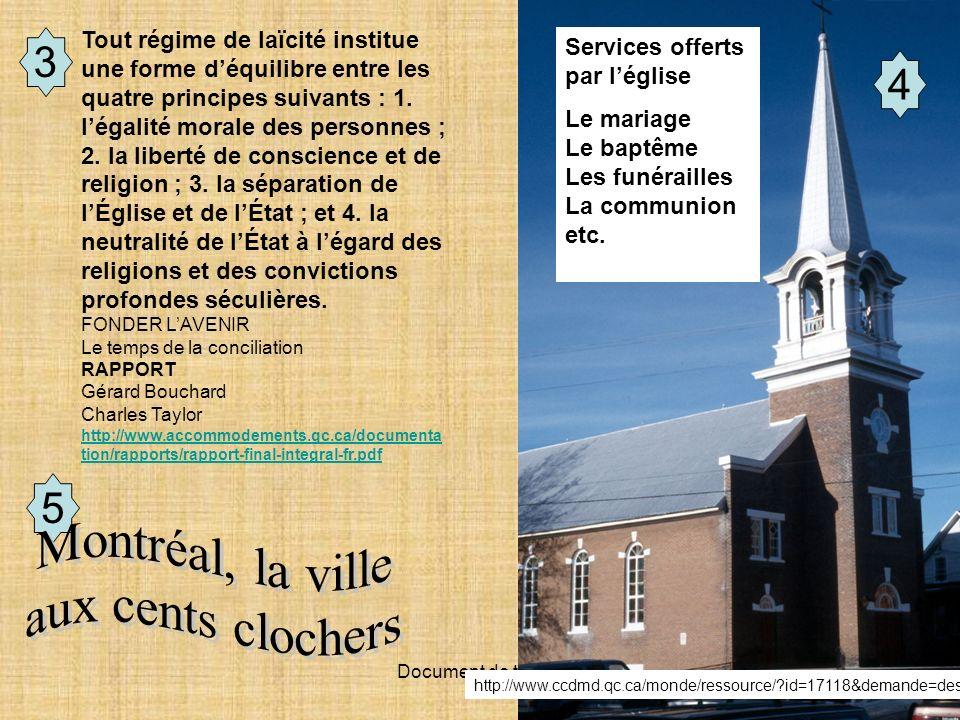 Document de travail 3 5 4 Services offerts par léglise Le mariage Le baptême Les funérailles La communion etc. http://www.ccdmd.qc.ca/monde/ressource/