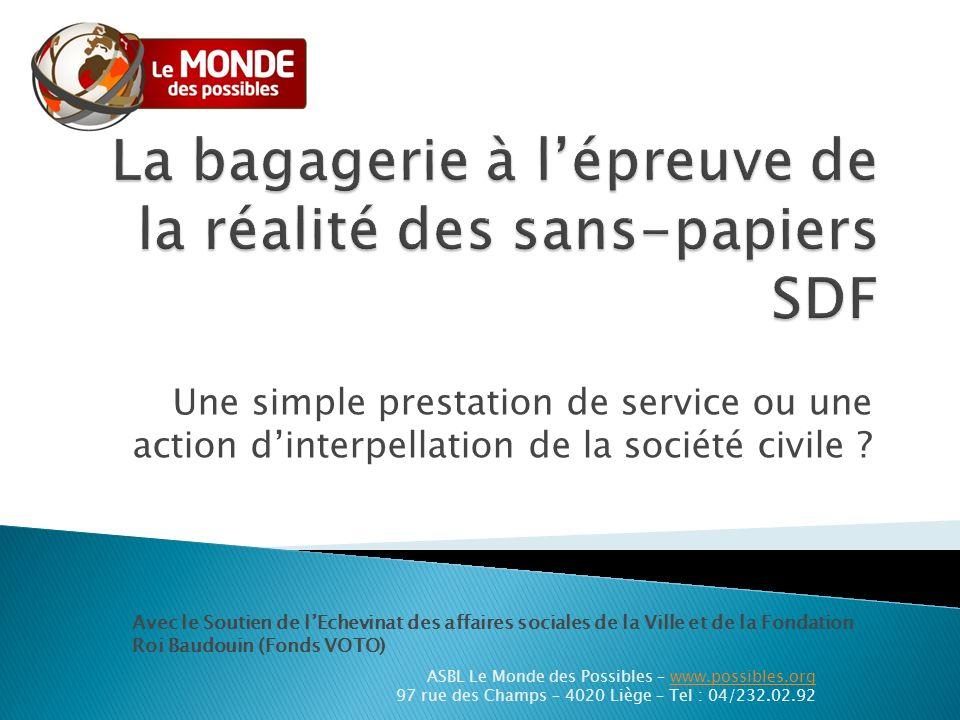 Historique Fermeture de la Gare de Bressoux Le monde des possibles témoin privilégié - 850 personnes/67 nationalités/an - Cours de français et dinformatique (EPN).