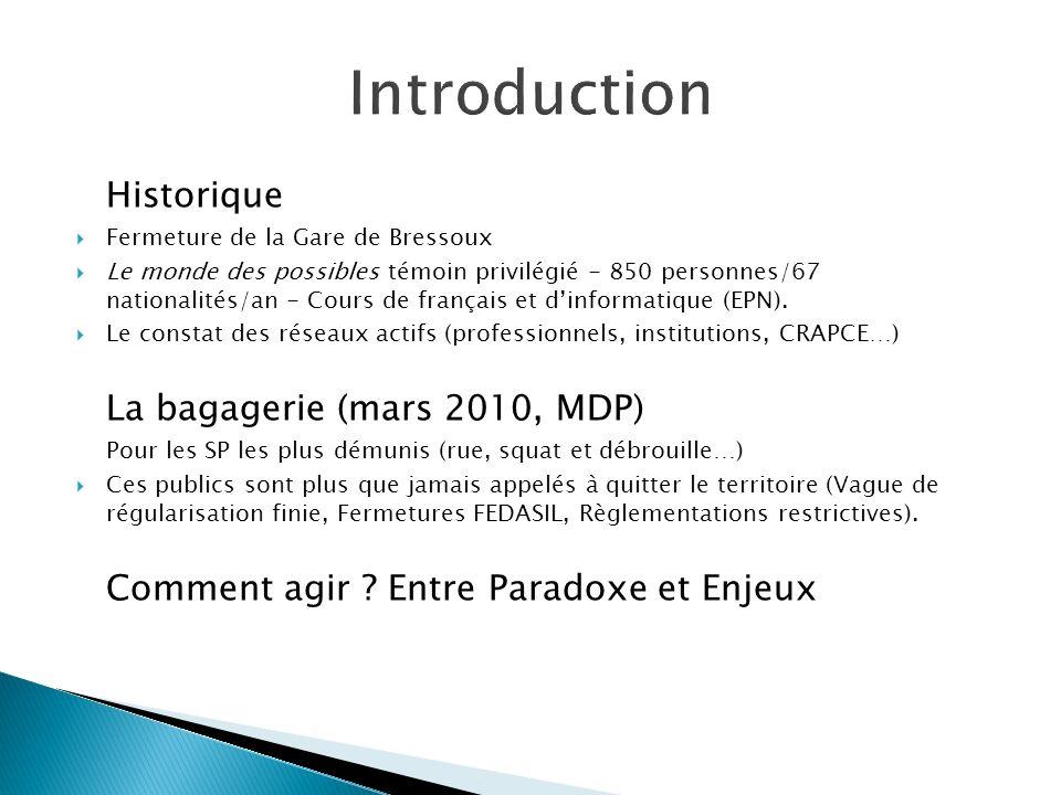 Historique Fermeture de la Gare de Bressoux Le monde des possibles témoin privilégié - 850 personnes/67 nationalités/an - Cours de français et dinform