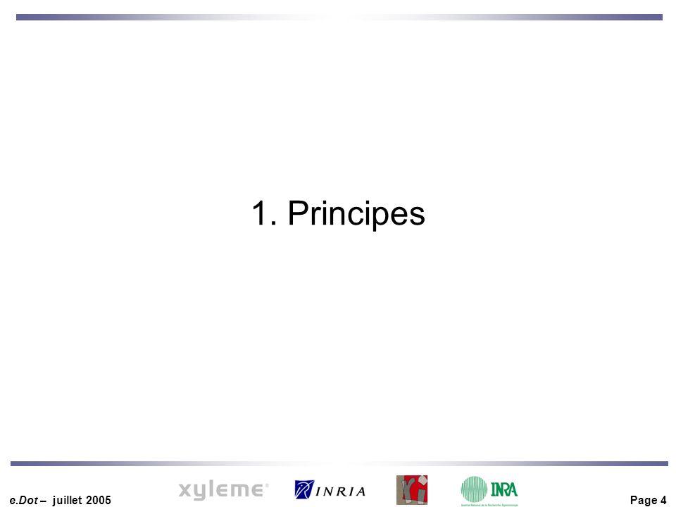 e.Dot – juillet 2005 Page 4 1. Principes