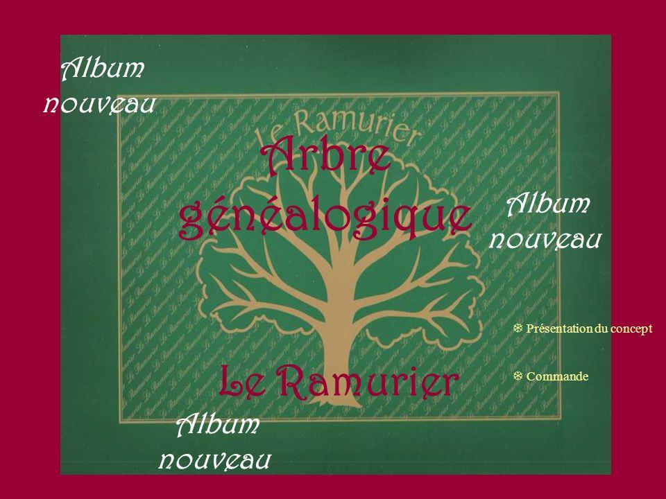 Arbre généalogique Le Ramurier Album nouveau Présentation du concept Commande