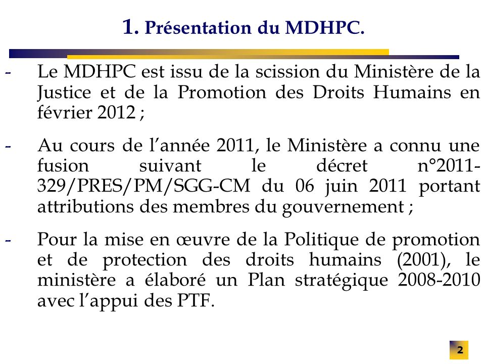 2 1.Présentation du MDHPC.