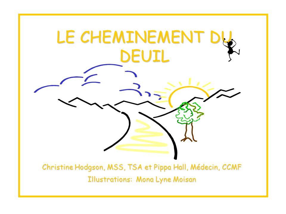 LE CHEMINEMENT DU DEUIL Christine Hodgson, MSS, TSA et Pippa Hall, Médecin, CCMF Illustrations: Mona Lyne Moisan