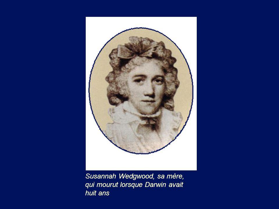 Susannah Wedgwood, sa mère, qui mourut lorsque Darwin avait huit ans