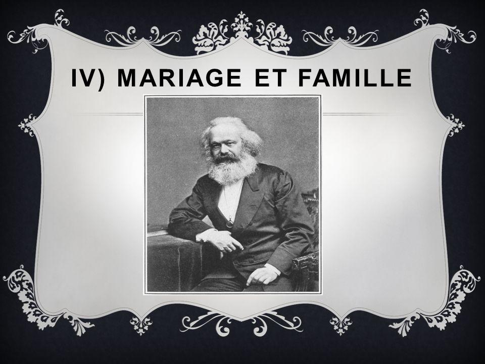 IV) MARIAGE ET FAMILLE