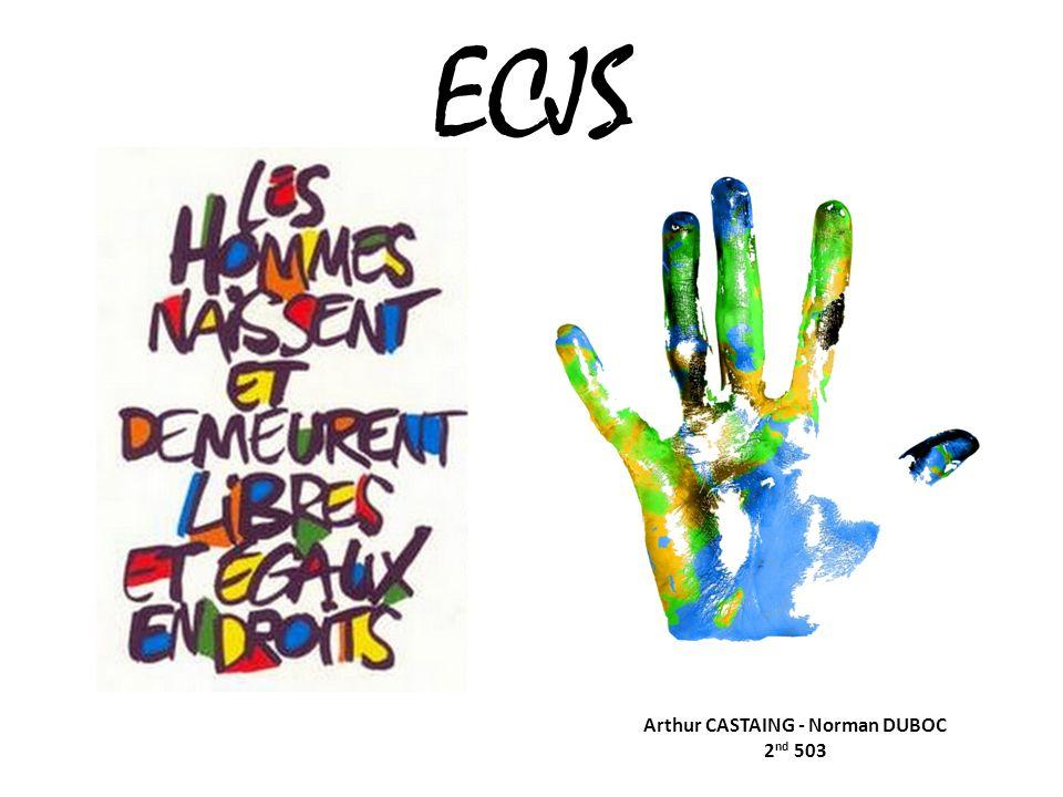 ECJS Arthur CASTAING - Norman DUBOC 2 nd 503