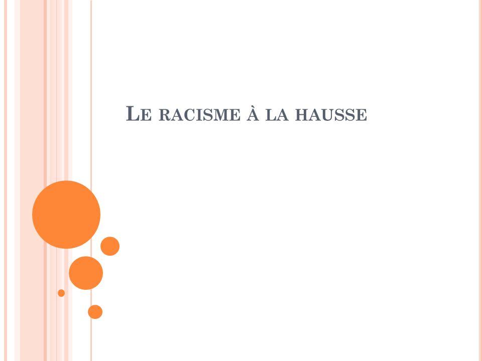 L E RACISME À LA HAUSSE