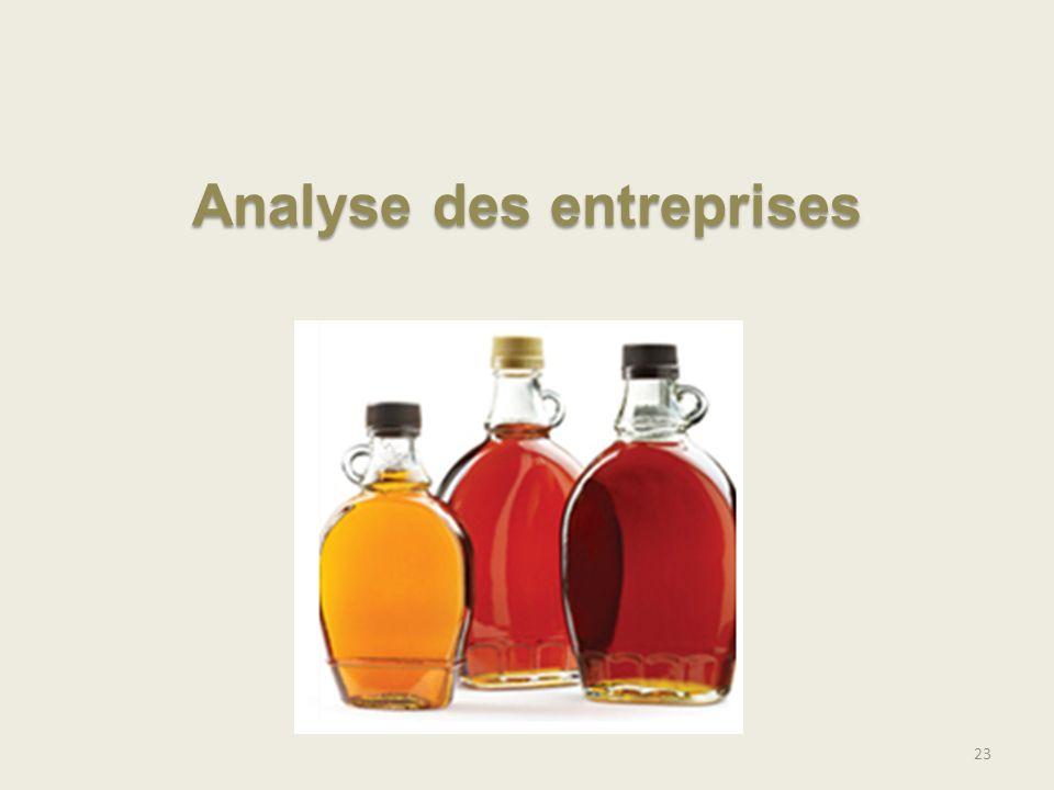 23 Analyse des entreprises
