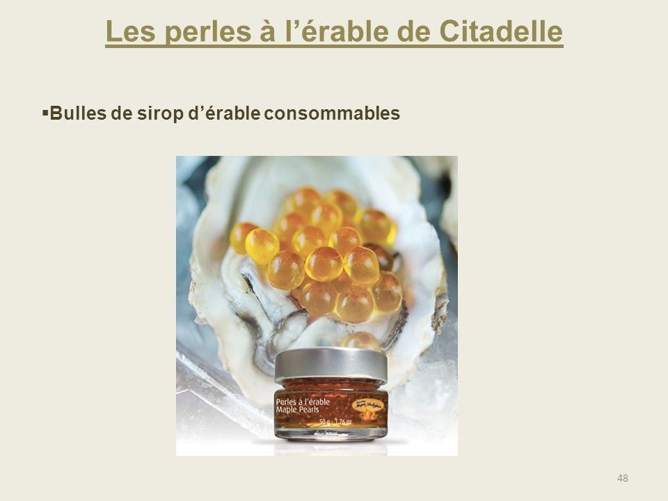 Les perles à lérable de Citadelle 48 Bulles de sirop dérable consommables