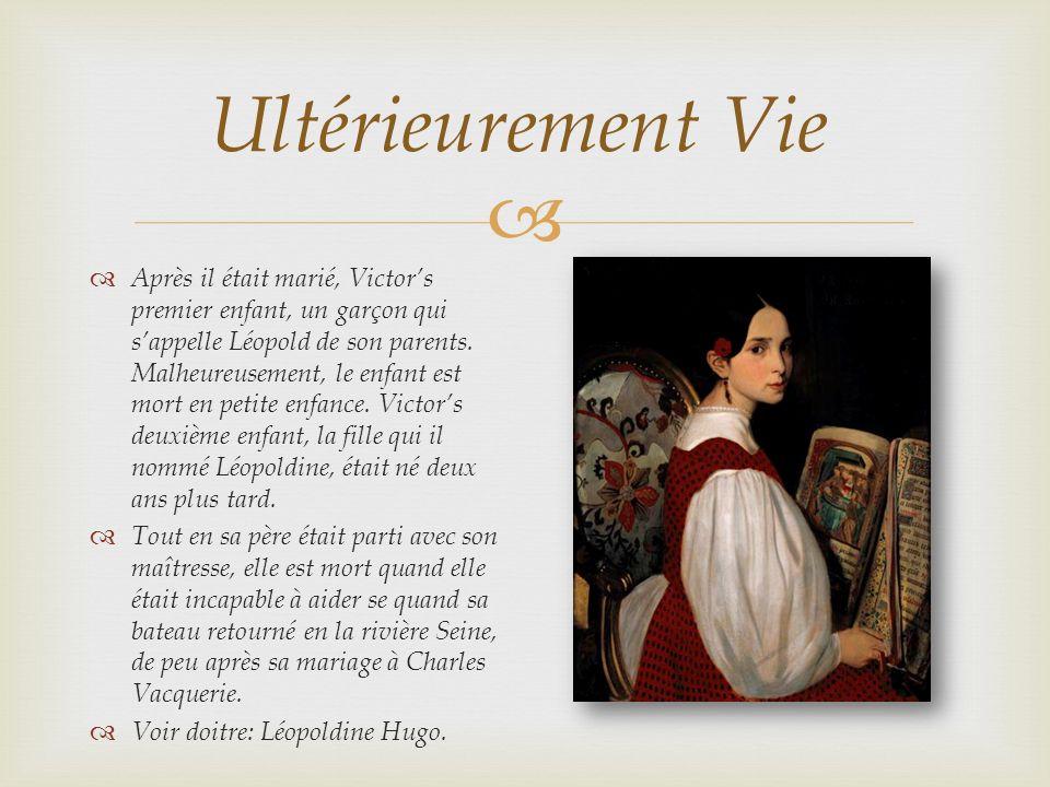 Ultérieurement Vie Après il était marié, Victors premier enfant, un garçon qui sappelle Léopold de son parents.