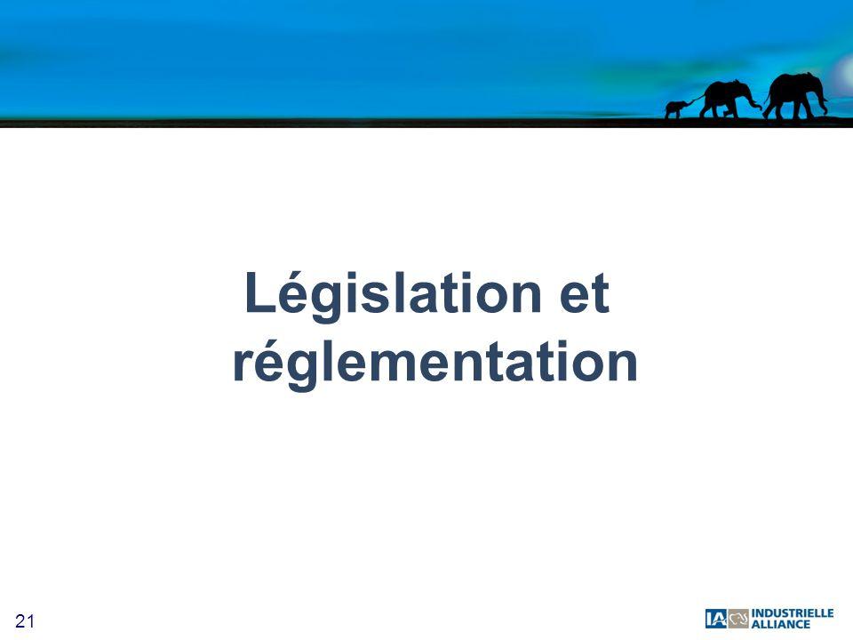 21 Législation et réglementation