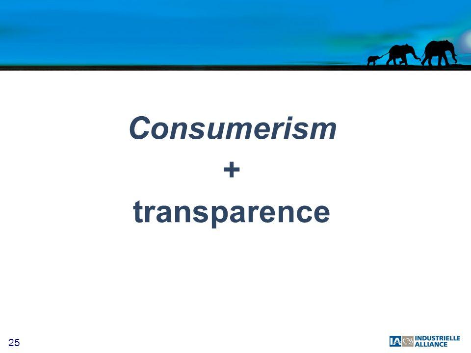 25 Consumerism + transparence