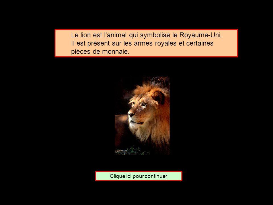 De quel pays le lion est-il lemblème ? Les États-Unis Le Royaume-Uni Le Kenya