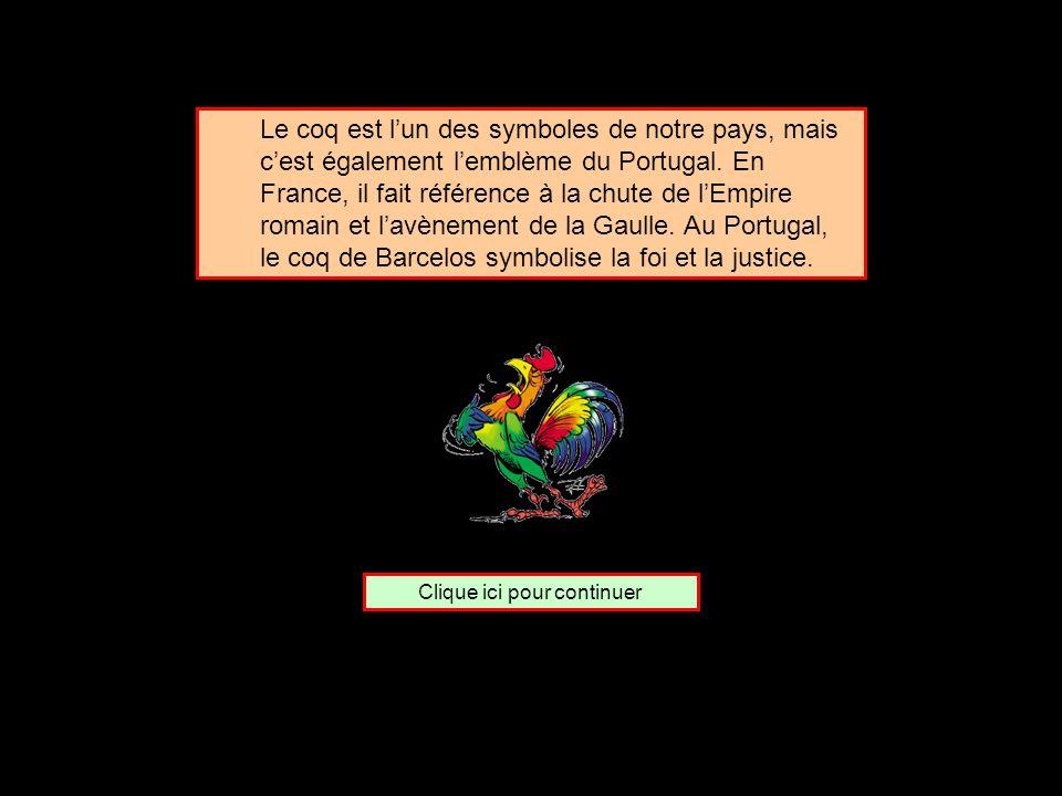 De quel pays le coq est-il lemblème ? Le Portugal LEspagne La Grèce
