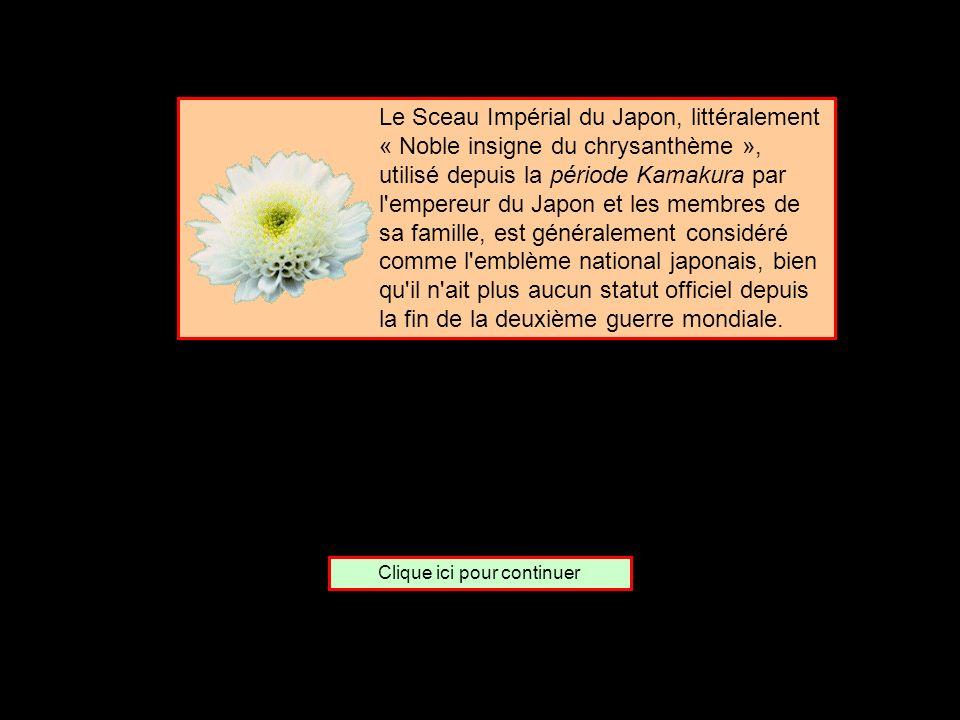 De quel pays le chrysanthème est-il lemblème ? LItalie Le Japon Le Tibet