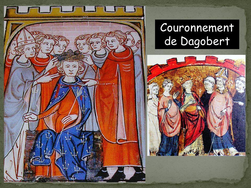 Dagobert 1 er Le règne de Dagobert (1 er ) est la période la plus brillante du règne des Mérovingiens. Il rétablit lordre et cherche à unifier le pays