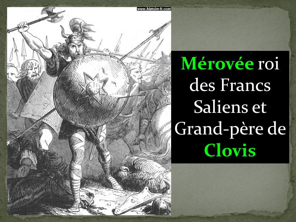 Mérovingiens : rois qui succédèrent à Clovis pour fonder la dynastie mérovingienne ( du nom du grand père de Clovis : Mérovée.)