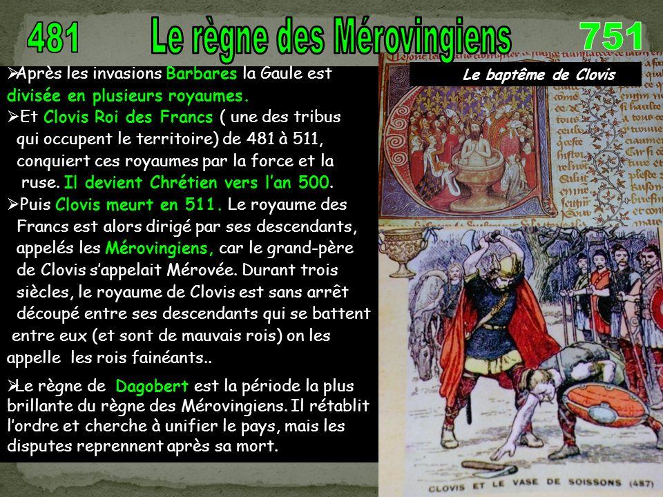Dagobert visitant le chantier de la basilique Saint Denis (où sont enterrés les rois de France)