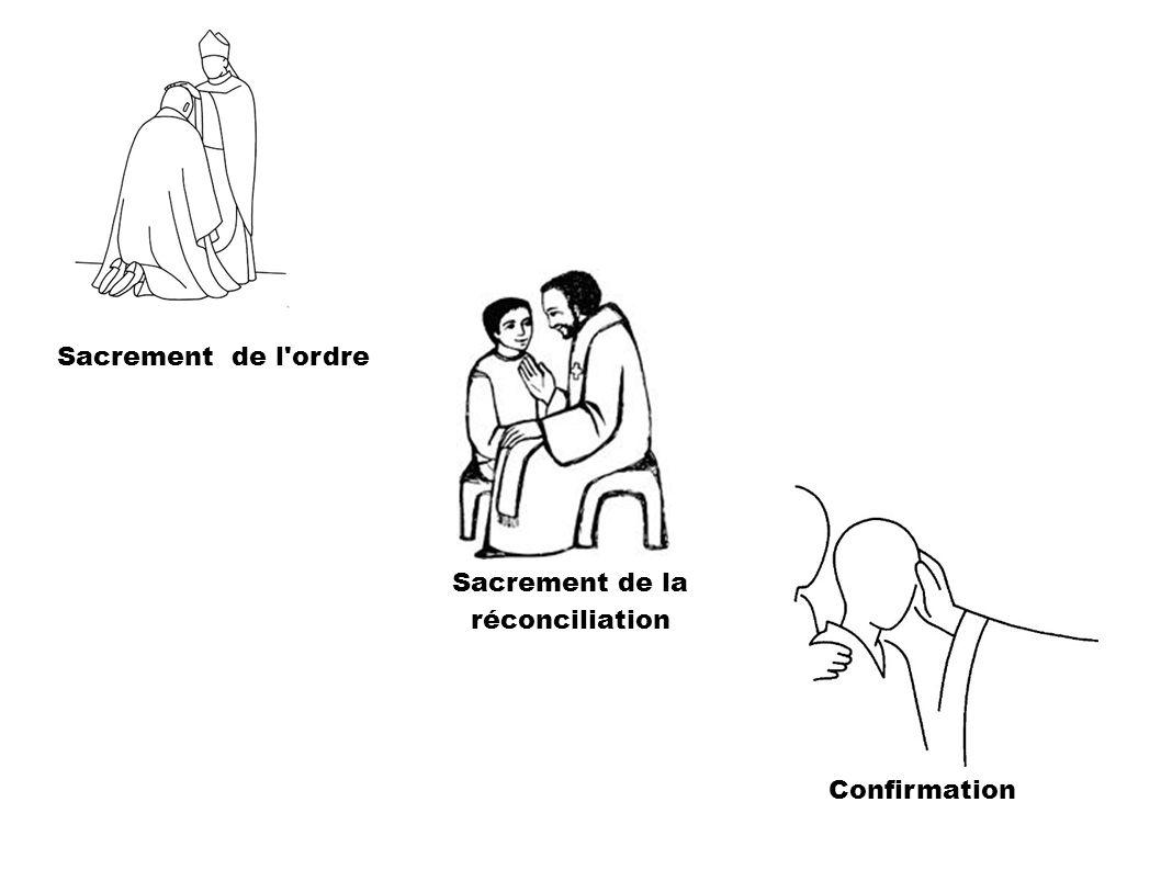 Confirmation Sacrement de l'ordre Sacrement de la réconciliation