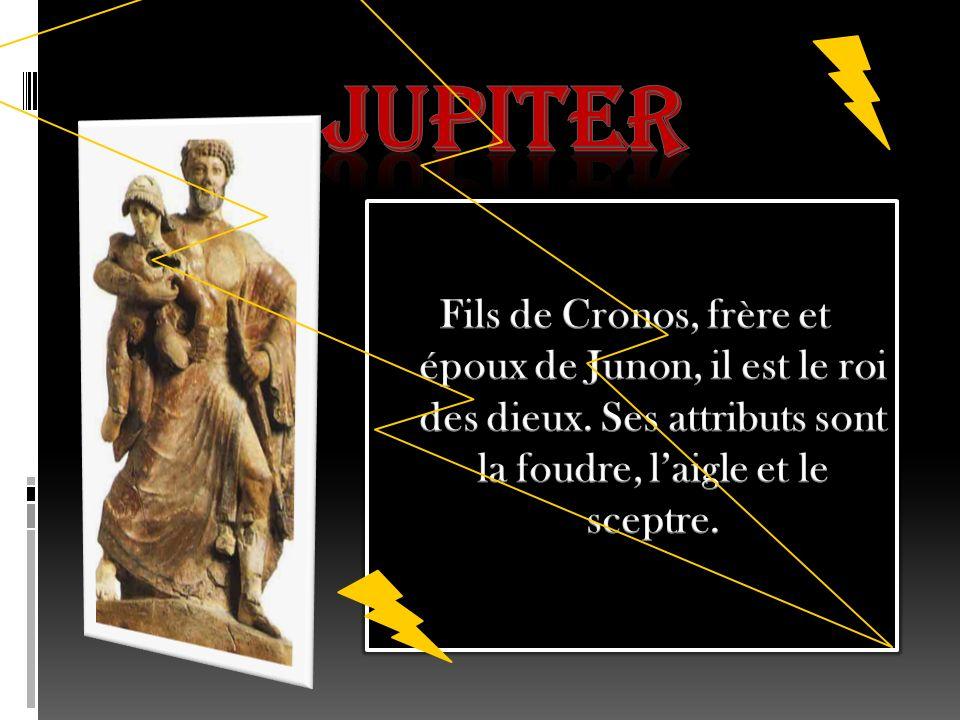 Saturne Il est le roi des Titans et le père de Jupiter.