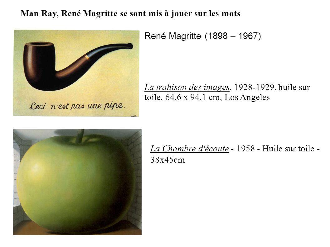 René Magritte (1898 – 1967) La trahison des images, 1928-1929, huile sur toile, 64,6 x 94,1 cm, Los Angeles Man Ray, René Magritte se sont mis à jouer