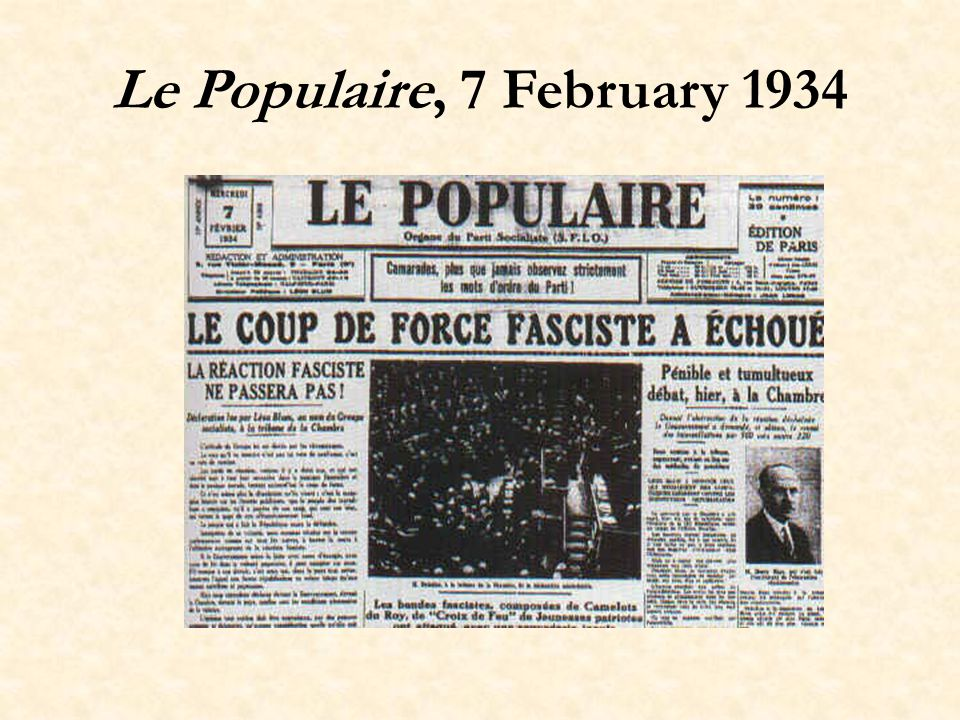 Le Populaire, 7 February 1934