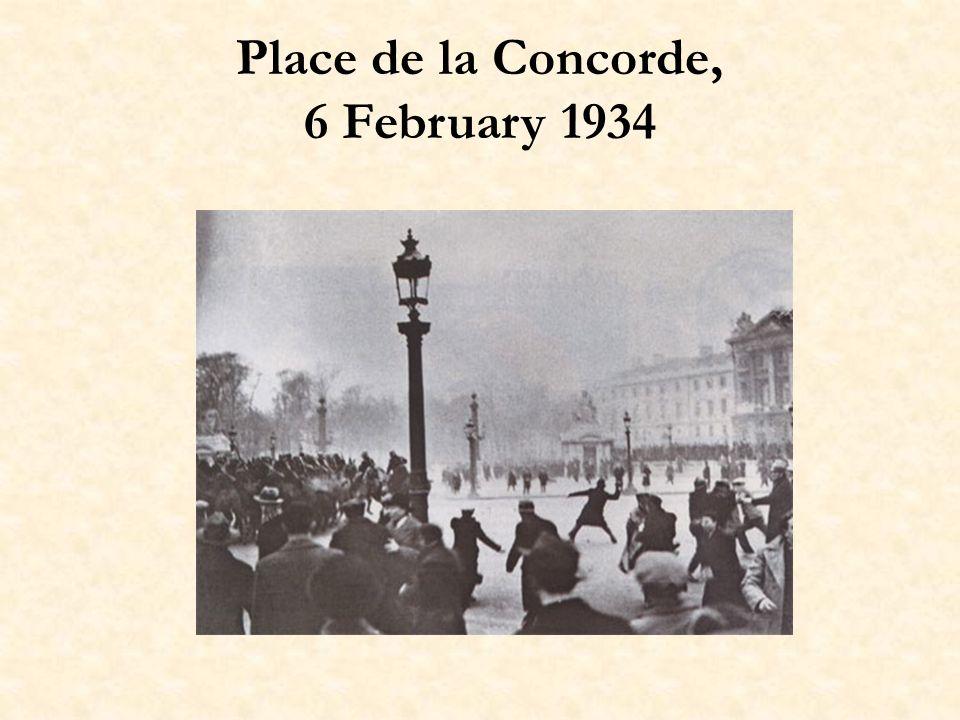 Place de la Concorde, 6 February 1934