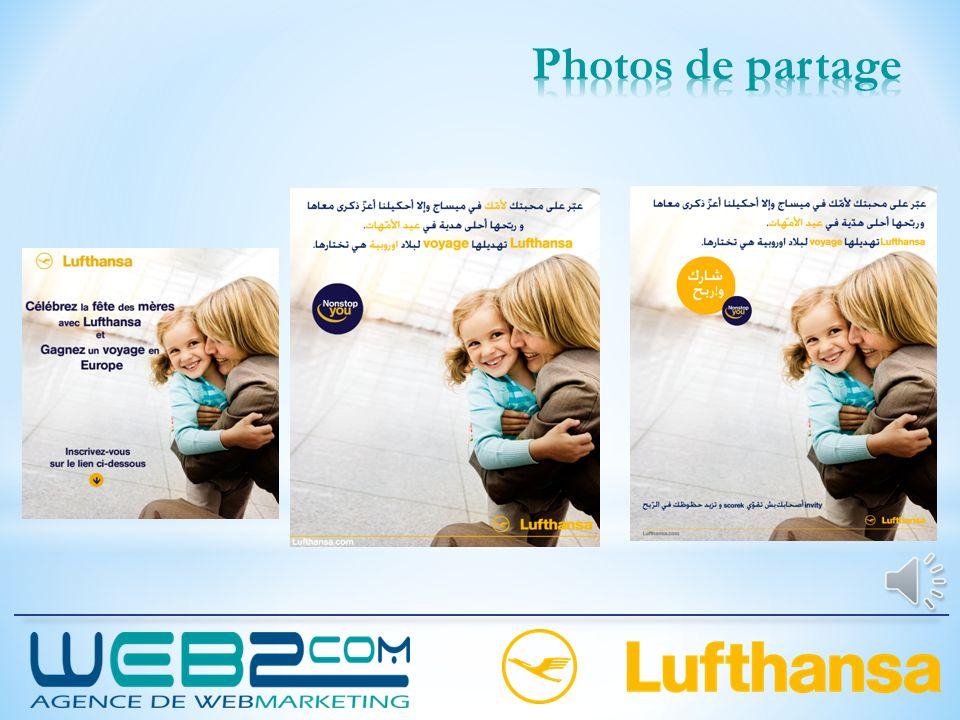 Texte 1 : A l'occasion de la fête des mères, Lufthansa vous offre un voyage en Europe pour votre mère vers la destination de son choix. Il suffit de d
