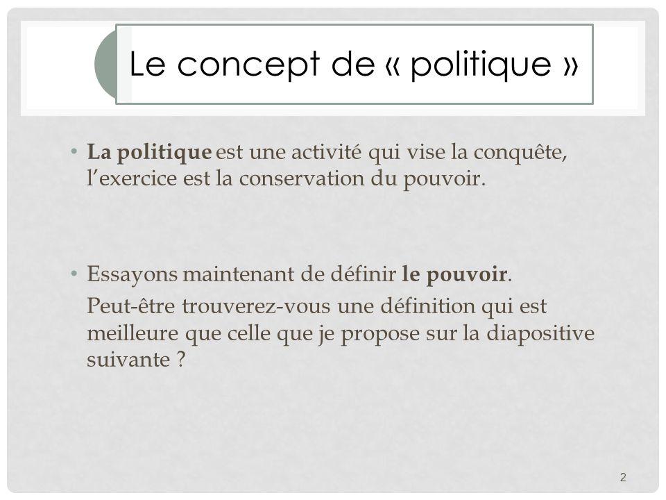 La politique, une science ?