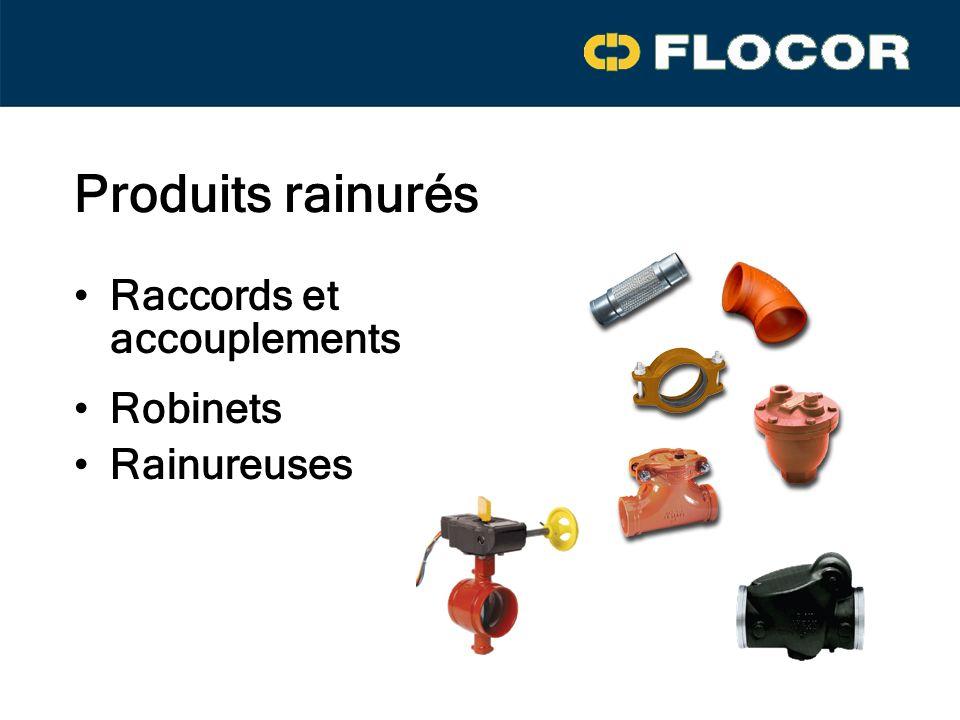 Raccords et accouplements Rainureuses Robinets Produits rainurés