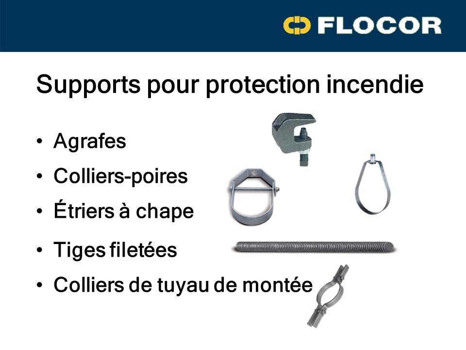 Supports pour protection incendie Agrafes Colliers-poires Étriers à chape Tiges filetées Colliers de tuyau de montée