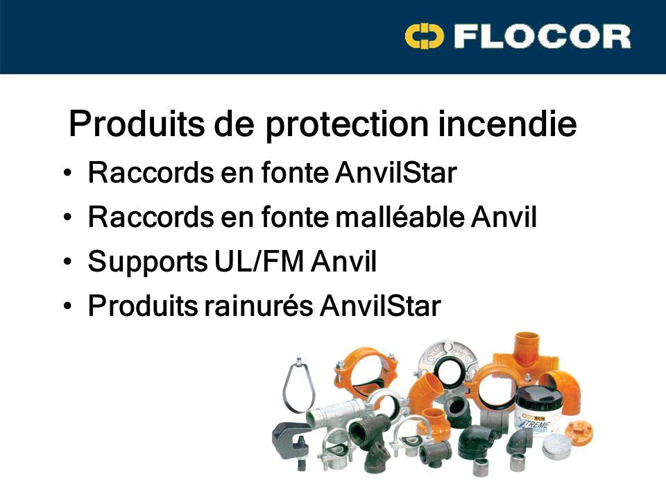 Produits de protection incendie Raccords en fonte AnvilStar Supports UL/FM Anvil Produits rainurés AnvilStar Raccords en fonte malléable Anvil