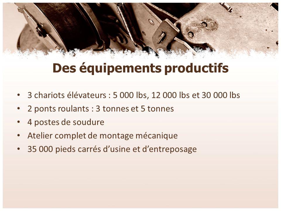 Des partenaires fiables Nous avons également un excellent réseau de fournisseurs pour : – L acier non travaillé – La découpe au laser – Lhydraulique – Les pièces mécaniques et électriques – L usinage – La peinture liquide ou « powder coat »