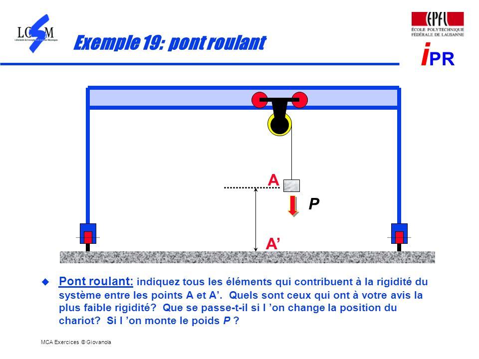 MCA Exercices © Giovanola i PR Exercice MCA-10-05: hyperstatisme du banc dessai pour galets presseurs, corrigé BÂTI 0 3 0 7 4 8 L8L8 L9L9 L 11 L4L4 L6L6 L7L7 BÂTI 0 3 1 7 4 8 L8L8 L9L9 L 11 L4L4 L6L6 L7L7 0 L1L1 Solution 1 y x Solution 2 L 11 1