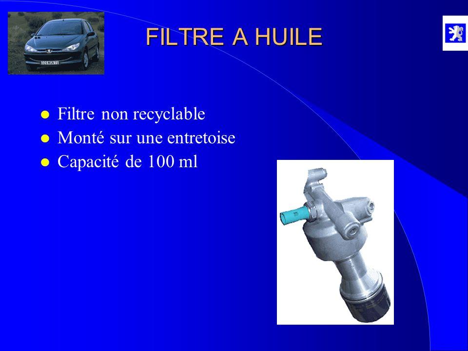FILTRE A HUILE l Filtre non recyclable l Monté sur une entretoise l Capacité de 100 ml