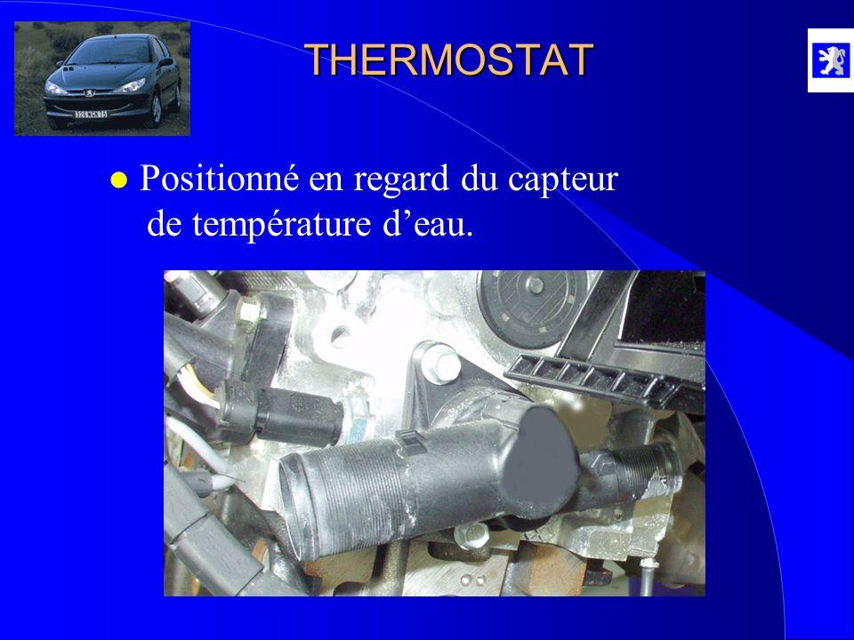 THERMOSTAT l Positionné en regard du capteur de température deau.