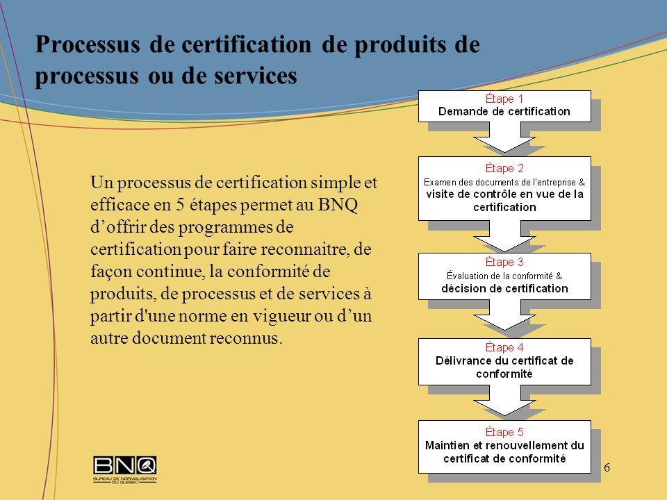 7 Le programme de certification du BNQ sur les Géotextiles est issue de la spécification GCTTG 30001-06 élaborée par le Groupe CTT.
