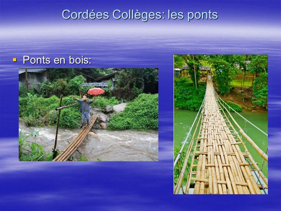 Ponts en bois: Ponts en bois: Cordées Collèges: les ponts