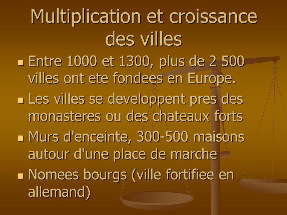 Multiplication et croissance des villes Entre 1000 et 1300, plus de 2 500 villes ont ete fondees en Europe. Entre 1000 et 1300, plus de 2 500 villes o