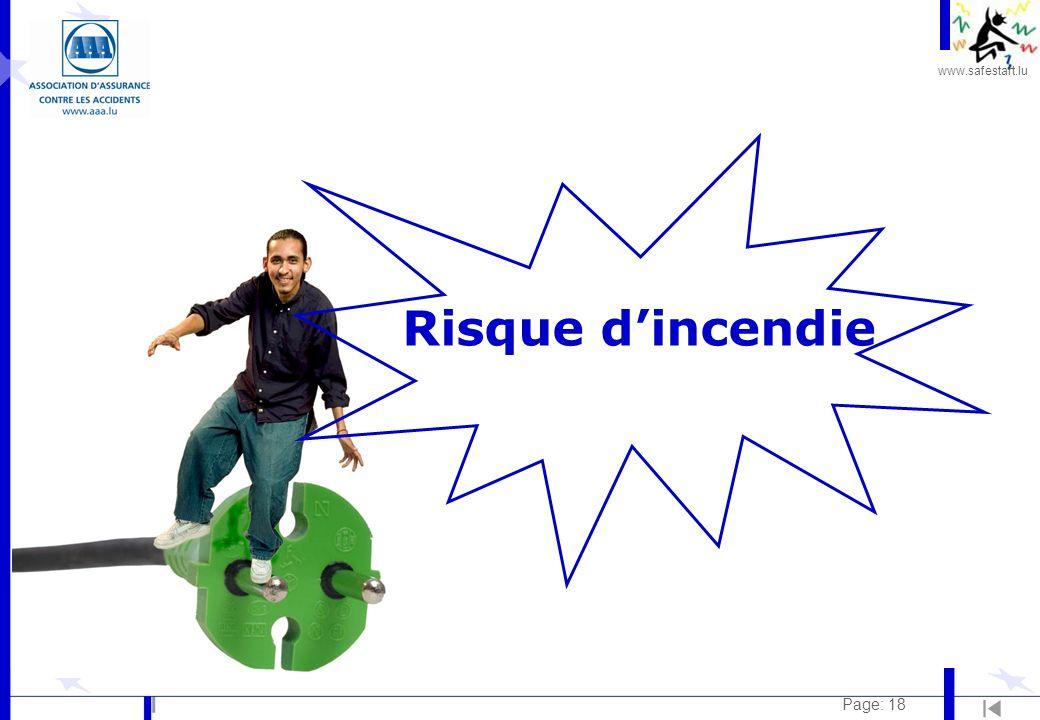 www.safestart.lu Page: 18 Risque dincendie