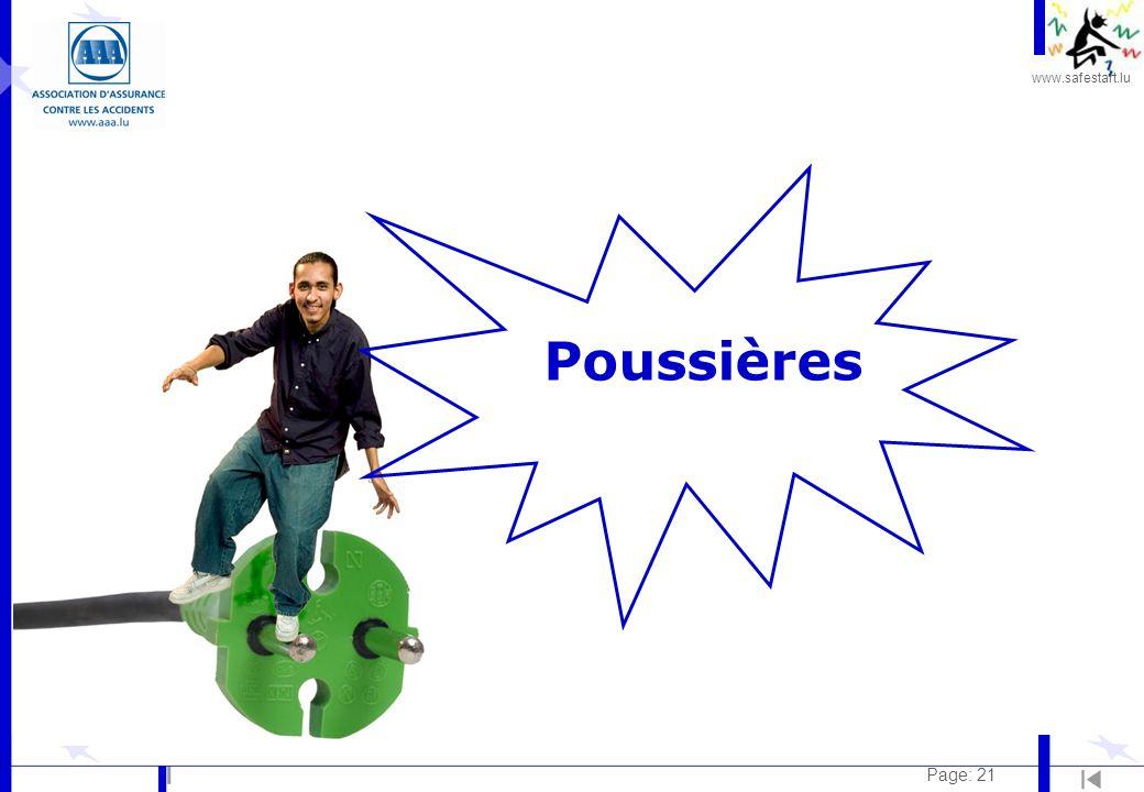 www.safestart.lu Page: 21 Poussières
