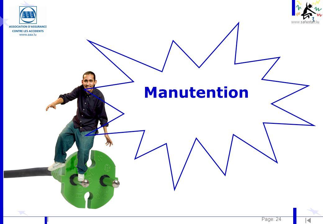 www.safestart.lu Page: 24 Manutention
