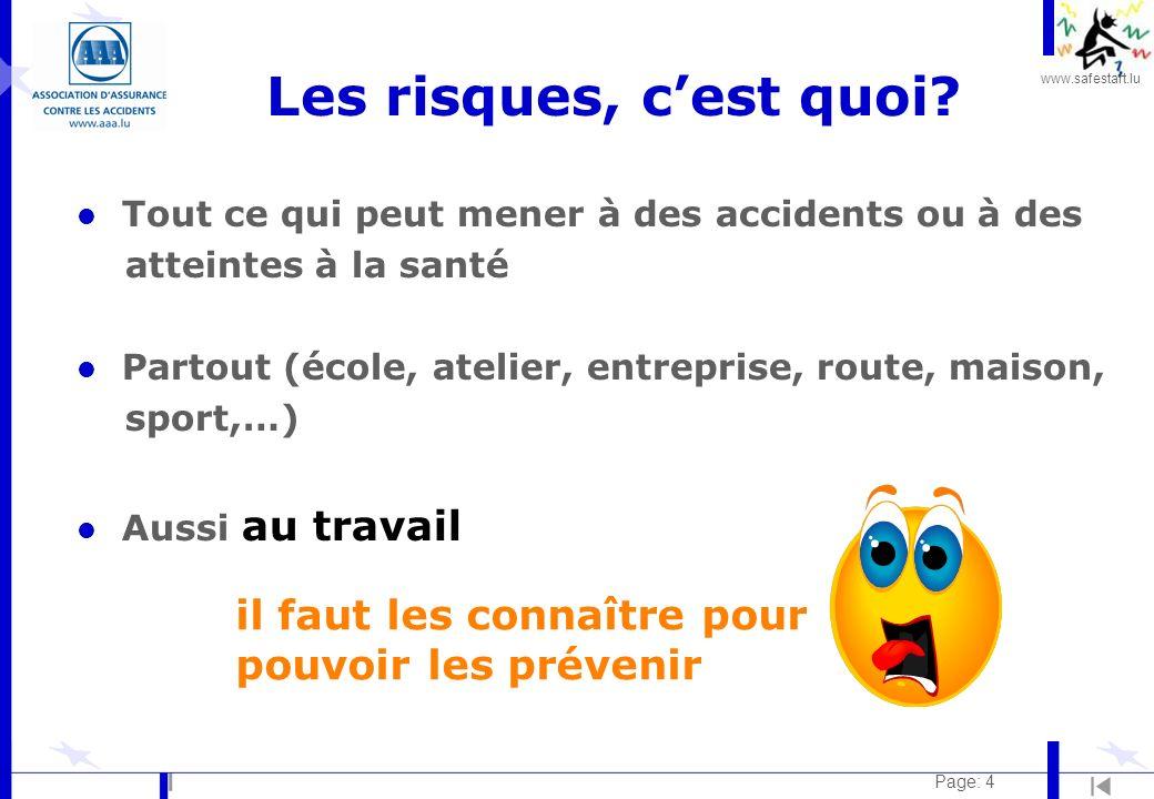 www.safestart.lu Page: 4 Les risques, cest quoi.