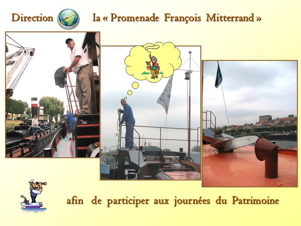 afin de participeraux journées du Patrimoine afin de participer aux journées du Patrimoine Direction la « Promenade François Mitterrand »