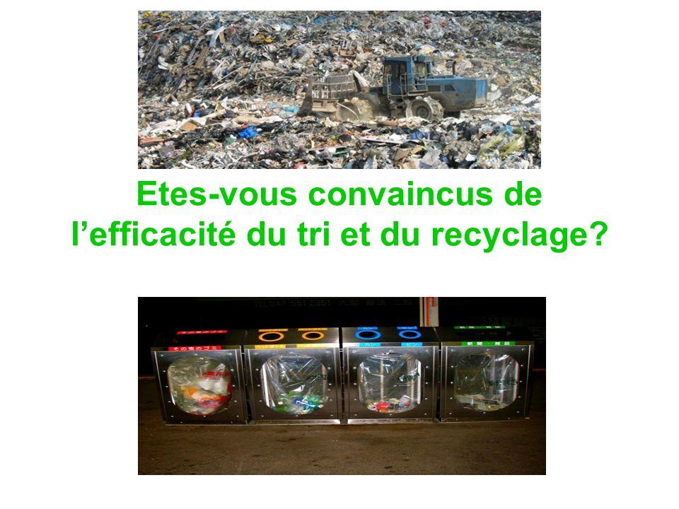 Etes-vous convaincus de lefficacité du tri et du recyclage?
