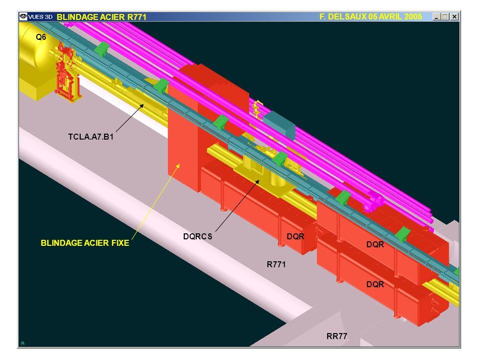 BLINDAGE ACIER R771 F. DELSAUX 05 AVRIL 2005 RR77 R771 DQR Q6 TCLA.A7.B1 DQRCS BLINDAGE ACIER FIXE