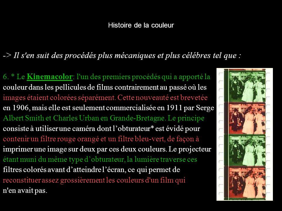 Histoire de la couleur II - L importance de la couleur au cinéma.
