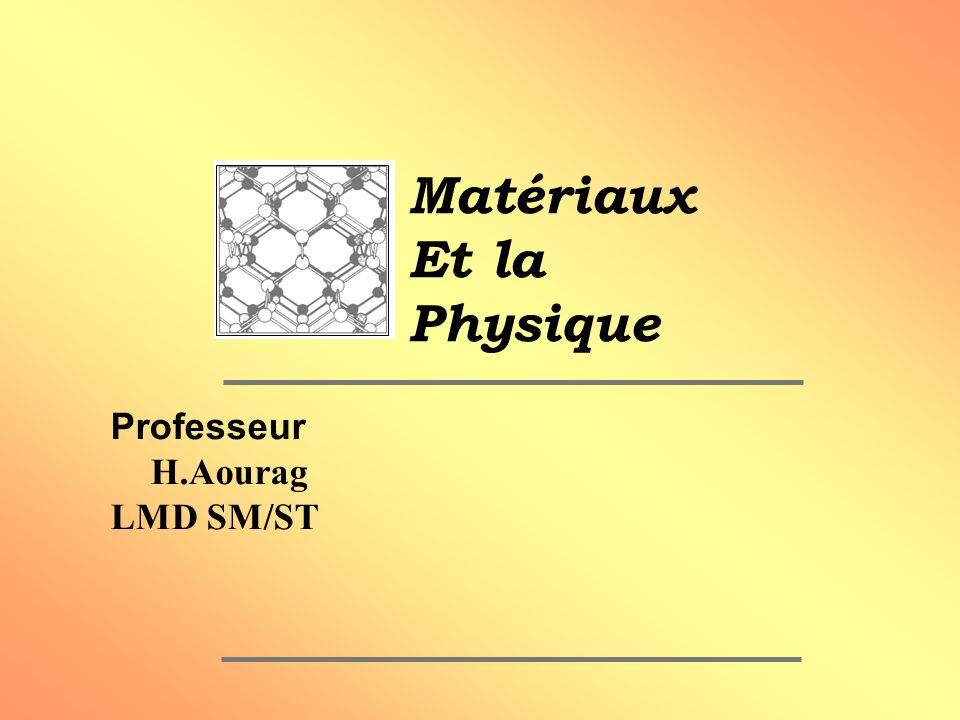 Objectifs du cours Objectifs généraux A) Bonne compréhension des propriétés des matériaux Les ingénieurs utilisent ces matériaux.